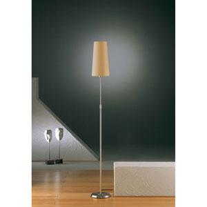 Satin Nickel One-Light Floor Lamp with Narrow Kupfer Shade