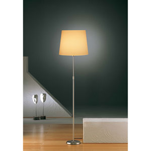 Satin Nickel One-Light Floor Lamp with Regular Kupfer Shade