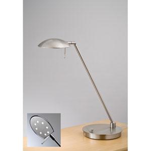 Bernie Turbo Series Satin Nickel LED Desk Lamp