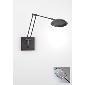 Bernie Turbo Series Hand Brushed Old Bronze LED Swing Arm Sconce