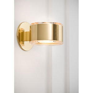 Quergedacht Polished Brass Wall Sconce