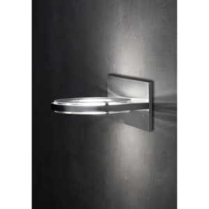 Wega Brushed Aluminum LED Two-Light Wall Sconce