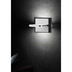 Wega Square Brushed Aluminum LED Two-Light Wall Sconce
