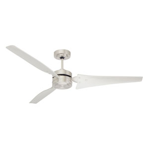 Loft Brushed Steel Energy Star 60-Inch Ceiling Fan