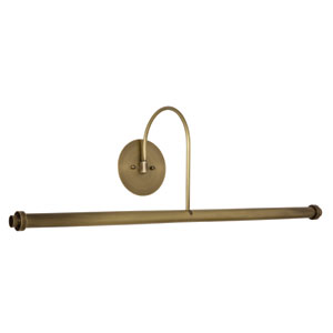 Slim-line Antique Brass LED Picture Light