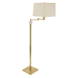 Somerset Antique Brass One-Light Swing Arm Floor Lamp