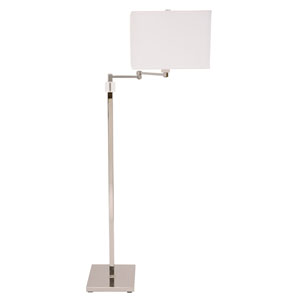 Somerset Polished Nickel One-Light Swing Arm Floor Lamp