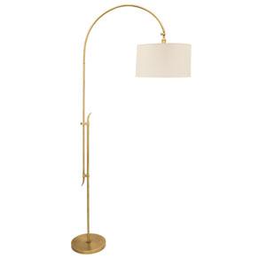 Windsor Antique Brass 84-Inch One-Light Adjustable Floor Lamp