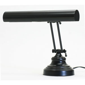Advent Black Two-Light Piano and Desk Lamp