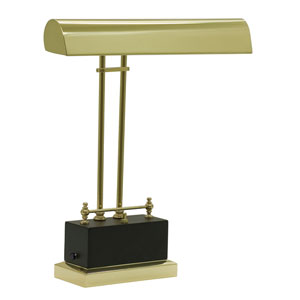 Black and Brass 14-Inch LED Piano or Desk Lamp