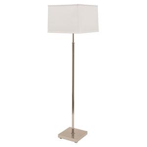 Burke Polished Nickel Two-Light Floor Lamp