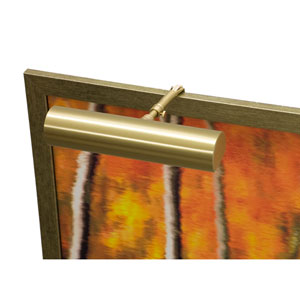 Classic Contemporary Satin Brass One-Light  Picture Light
