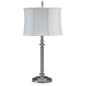 Coach Antique Silver One-Light Table Lamp