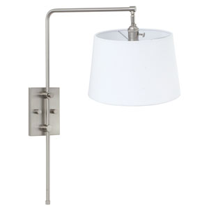 Crown Point Satin Nickel One-Light  Wall Sconce