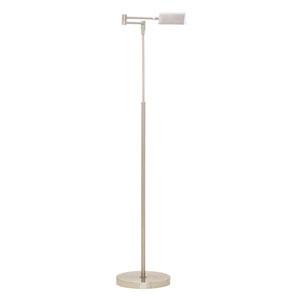Delta Satin Nickel LED Floor Lamp