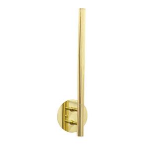 Slim-Line Polished Brass LED Wall Sconce