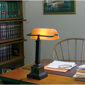 Shelburne Mahogany Bronze One-Light Desk Lamp