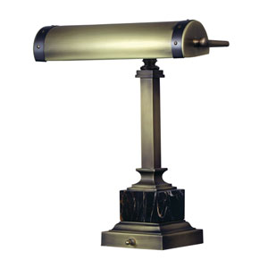 Steamer Antique Brass with Mahogany Bronze Accents 12-Inch One-Light Desk Lamp