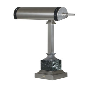 Steamer Satin Nickel with Black Accents 12-Inch One-Light Desk Lamp