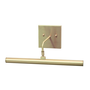 Slim-line Antique Brass One-Light LED Picture Light