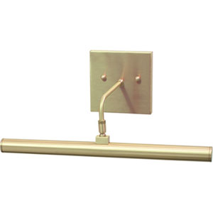 Slim-line Satin Brass One-Light LED Picture Light
