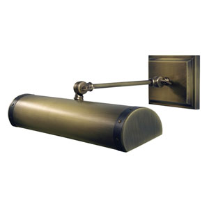 Steamer Antique Brass with Mahogany Bronze Accents 16-Inch Two-Light Picture Light Direct Wire