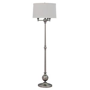 Essex Satin Nickel Four-Light Floor Lamp