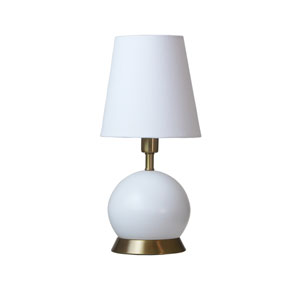 Geo White with Weathered Brass Accents One-Light Ball Accent Lamp