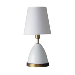 Geo White with Weathered Brass Accents One-Light Parabola Accent Lamp