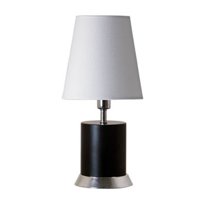 Geo Black Matte with Chrome Accents One-Light Cylinder Accent Lamp