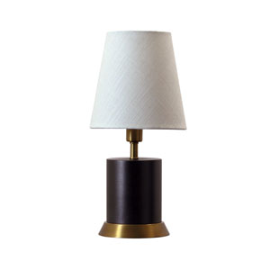 Geo Mahogany Bronze with Weathered Brass Accents One-Light Cylinder Accent Lamp