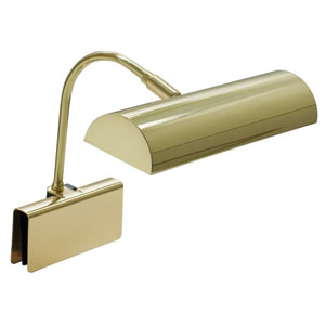 Grand Piano Polished Brass 10-Inch One-Light Piano Lamp
