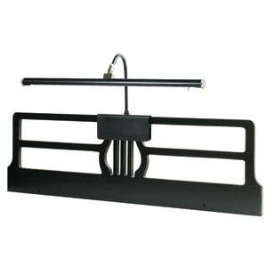 Grand Piano Black and Satin Nickel LED Piano Lamp