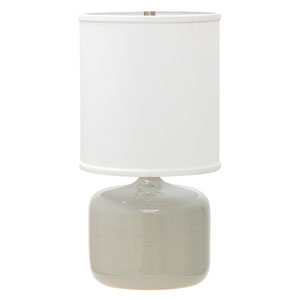 Scatchard Gray Gloss 19.5-Inch One-Light Table Lamp
