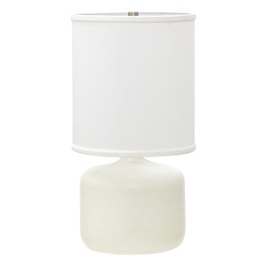 Scatchard White Matte 19.5-Inch One-Light Table Lamp