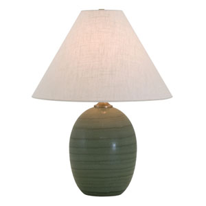 Scatchard Green Matte 22.5-Inch One-Light Table Lamp