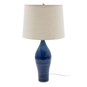 Scatchard Blue Gloss 27-Inch One-Light Table Lamp