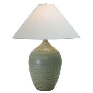 Scatchard Green Matte One-Light  Table Lamp