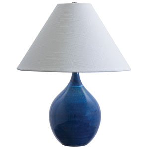 Scatchard Blue Gloss One-Light  Table Lamp