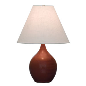 Scatchard Copper Red One-Light  Table Lamp