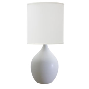 Scatchard White Matte 20.5-Inch One-Light Table Lamp