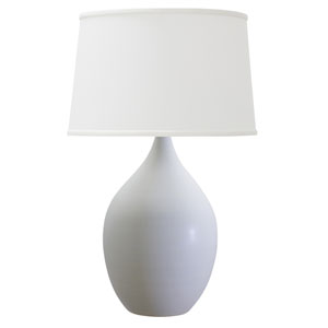 Scatchard White Matte 18.5-Inch One-Light Table Lamp