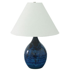 Scatchard Midnight Blue One-Light  Table Lamp