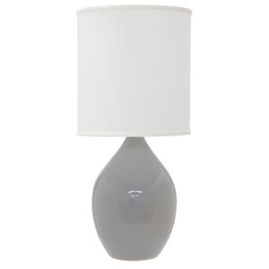 Scatchard Gray Gloss 24-Inch One-Light Table Lamp