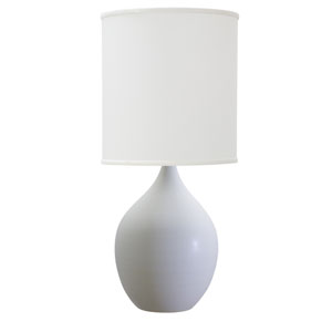 Scatchard White Matte 24-Inch One-Light Table Lamp