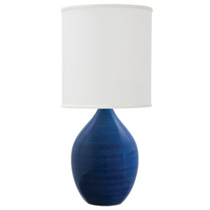 Scatchard Blue Gloss 30-Inch One-Light Table Lamp