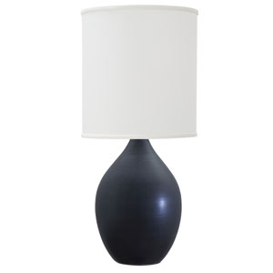 Scatchard Black Matte 30-Inch One-Light Table Lamp