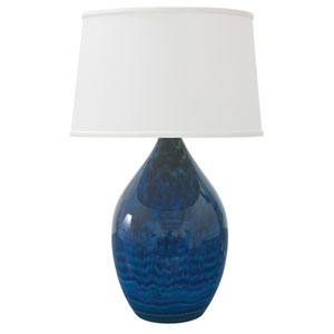 Scatchard Midnight Blue 24.5-Inch One-Light Table Lamp