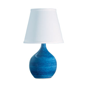 Scatchard Blue Gloss 13.5-Inch One-Light Table Lamp