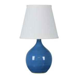 Scatchard Cornflower Blue 13.5-Inch One-Light Table Lamp